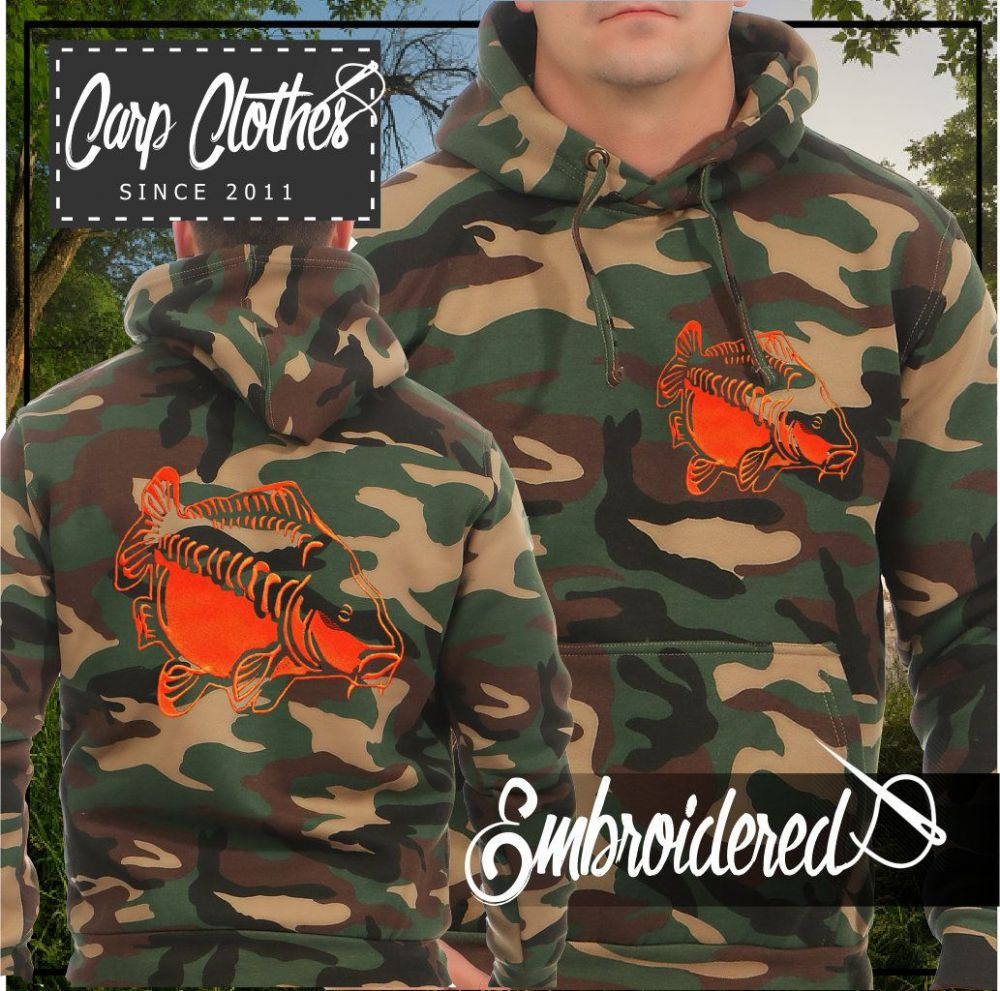 009 EMBROIDERED CAMO FISHING HOODIE